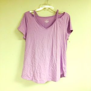 Lavender Peep Shoulder Top